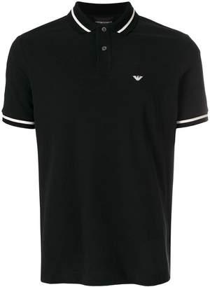 Emporio Armani stripe-trimmed polo shirt