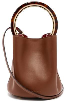 Marni - Pannier Leather Bucket Bag - Womens - Tan