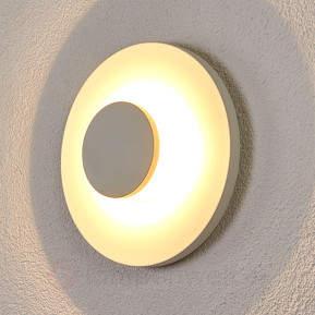 Runde LED-Wandlampe Toki für den Außenbereich