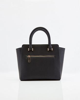 Le Château Pebbled Faux Leather Satchel Bag