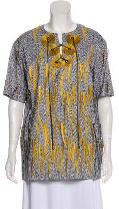 Marco De Vincenzo Embroidered Tunic Top