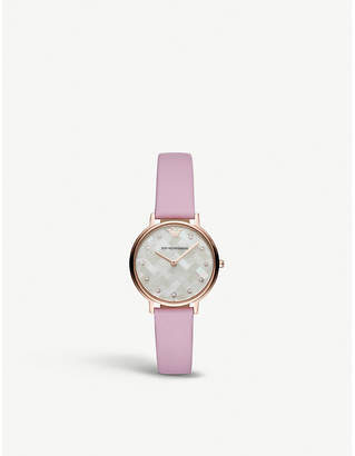 Emporio Armani AR11130 Kappa rose gold-plated