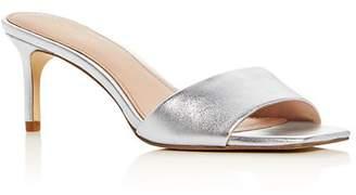 Rachel Zoe Women's Samantha Kitten-Heel Slide Sandals
