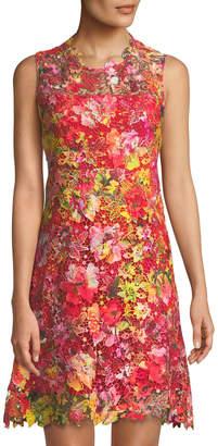 T Tahari Lincoln Floral Lace Shift Dress