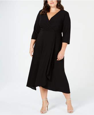 Taylor Plus Size Surplice Midi Dress