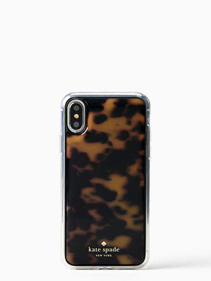Kate Spade Tortoise shell hands free iphone x case