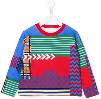 Burberry multi-pattern jersey top