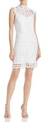 Laundry by Shelli Segal Mock Neck Lace Dress