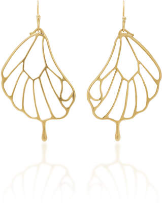 Annette Ferdinandsen 18K Gold Pampion Wing Earrings