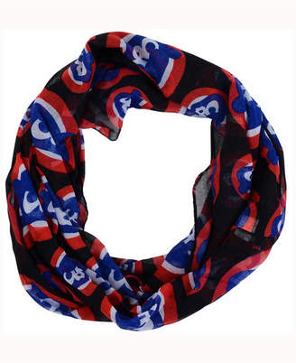 Forever Collectibles Chicago Cubs All Over Logo Infinity Wrap Scarf