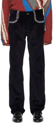 Missoni Navy Corduroy Trousers