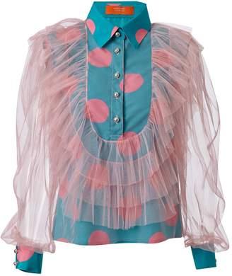 SUPERSWEET x moumi - Hatteras Shirt Polka Dot Pink