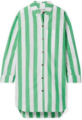 Mara Hoffman Bennet Oversized Striped Organic Cotton Shirt - Green