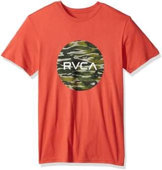 RVCA Young Men's Water Camo Motors Vintage Wash Tee Shirt, -, L