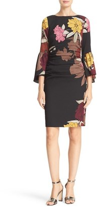 Tracy Reese 'T' Flounce Sleeve Floral Print Dress $348 thestylecure.com
