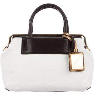 Brian Atwood Grained Leather Satchel