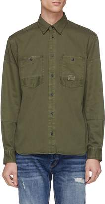 Denham Jeans 'Iron' patch pocket twill shirt