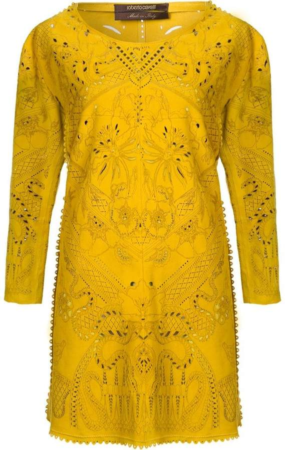 Roberto Cavalli laser cut dress