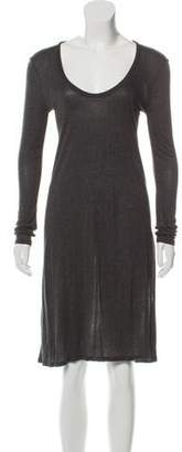 The Row Scoop Neck Knee-Length Dress