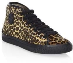 Stella McCartney Leopard-Print High-Top Sneakers