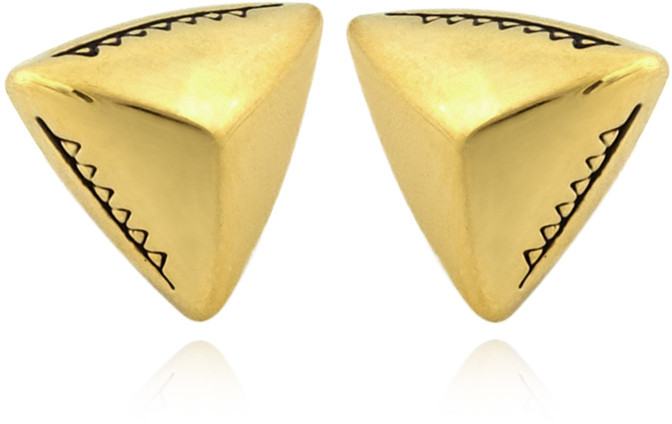 House of Harlow Faceted Pyramid Stud Earrings
