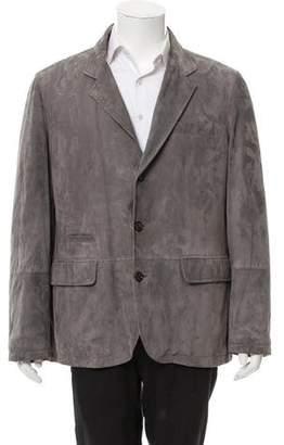 Brunello Cucinelli Suede Button-Up Jacket