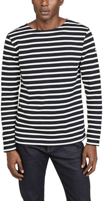 Armor Lux Long Sleeve Striped Mariniere Aviron T-Shirt