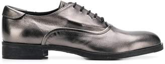 Twin-Set metallic lace-up shoes