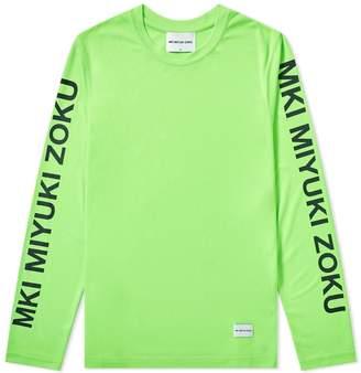 Mki MKI Long Sleeve Neon Logo Tee