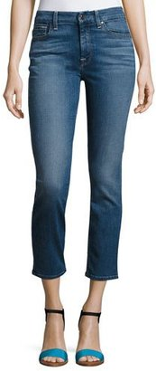 Jen7 by 7 for All Mankind Crop and Roll Straight-Leg Jeans