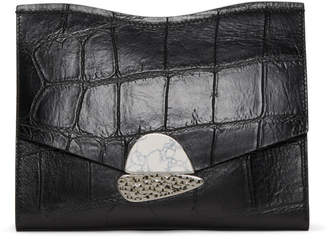 Proenza Schouler Black Medium Curl Clutch