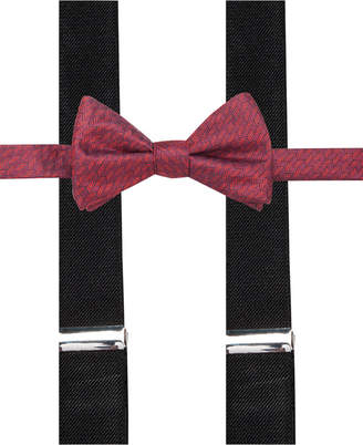 Alfani Red Bow Tie and Suspender Set, Created for Macy's