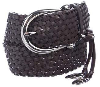 Michael Kors Woven Leather Waist Belt