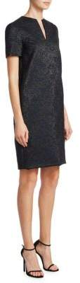 Lanvin V-Neck Jacquard Dress