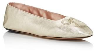 Bally Women's Ballyrina Round Toe Leather Ballet Flats