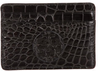 Tory Burch Tory Burch Embossed Leather Card Holder
