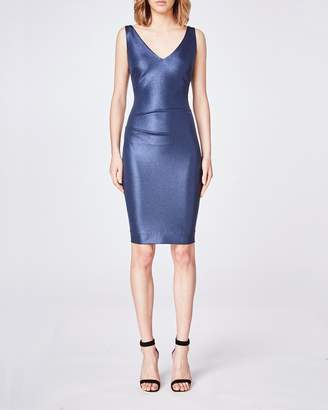 Nicole Miller Sparkle Jersey V-neck Dress