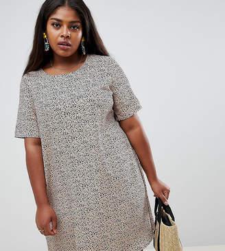 Glamorous Curve shift dress in dalmation print