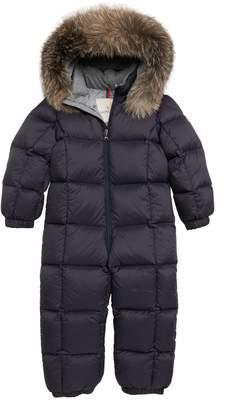 Moncler Jean Down Snowsuit with Genuine Fox Fur Trim
