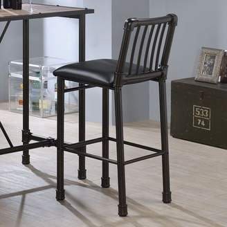 ACME Furniture ACME Caitlin Bar Chair, Black, Set of 2