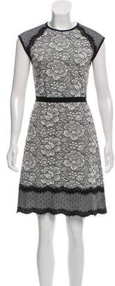 Andrew Gn Wool-Blend Lace Dress