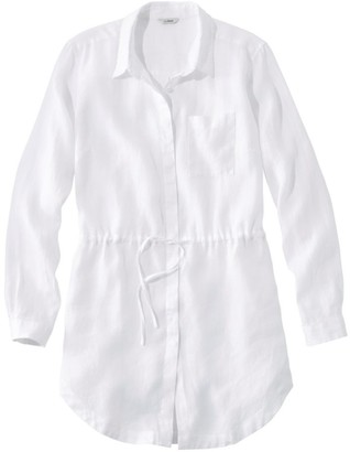 L.L. Bean L.L.Bean Women's Premium Washable Linen Drawstring Tunic