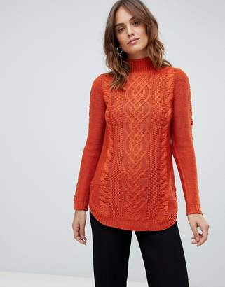 Oasis cable knit sweater in red
