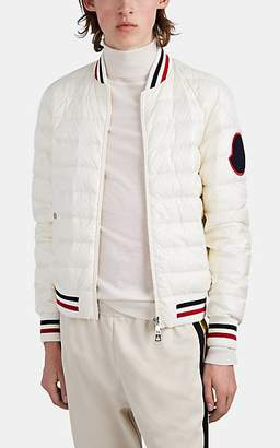 Moncler Men's Deltour Down-Quilted Bomber Jacket - White