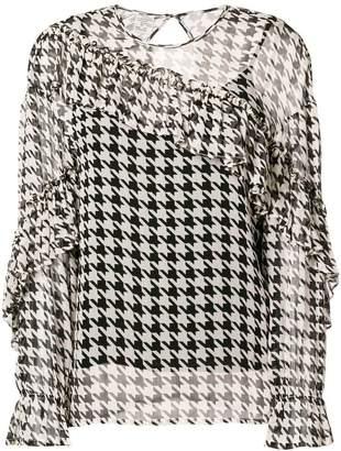 Baum und Pferdgarten gingham print ruffle blouse