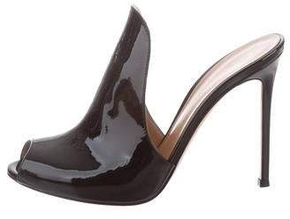 Gianvito Rossi Aramis Patent Leather Mules