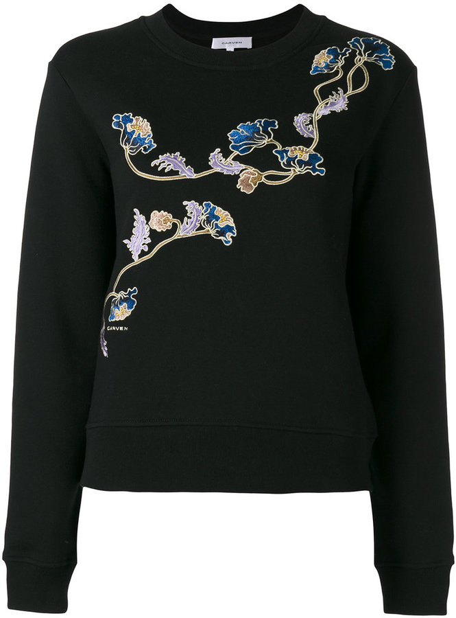 Carven Carven floral patch sweatshirt