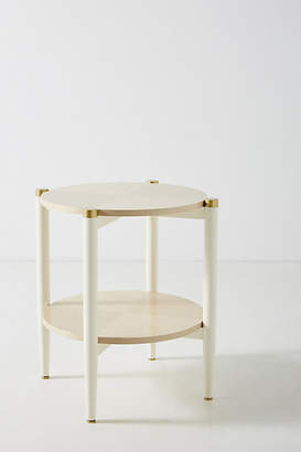 Anthropologie Geo-Marquetry Side Table