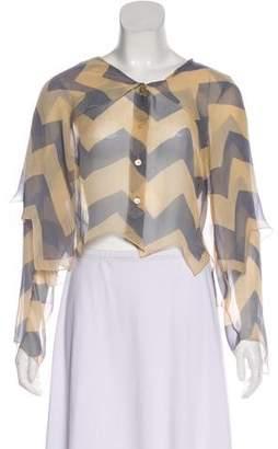 Chanel Silk Long Sleeve Top