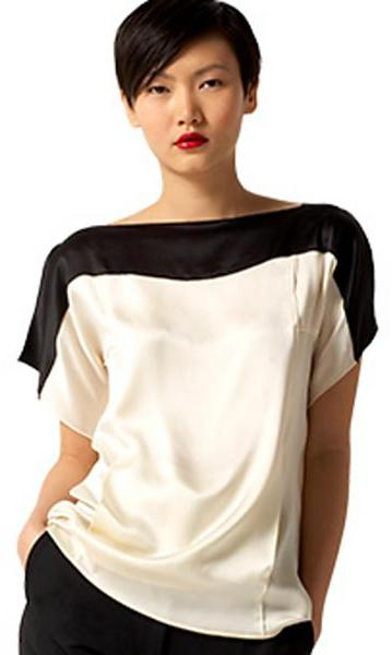 Marc Jacobs Collection Silk Colorblock Blouse